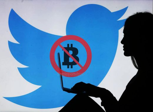 Twiter zbanuje Kryptowaluty