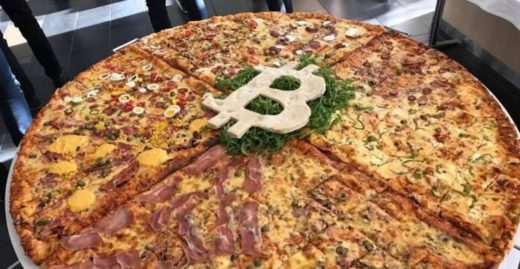 Pizza za bitcoiny.